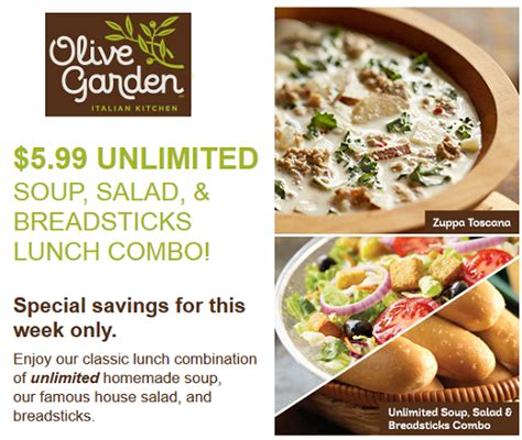 olive garden coupons code 2015 olive garden coupon 5 99 soup salad and breadsticks