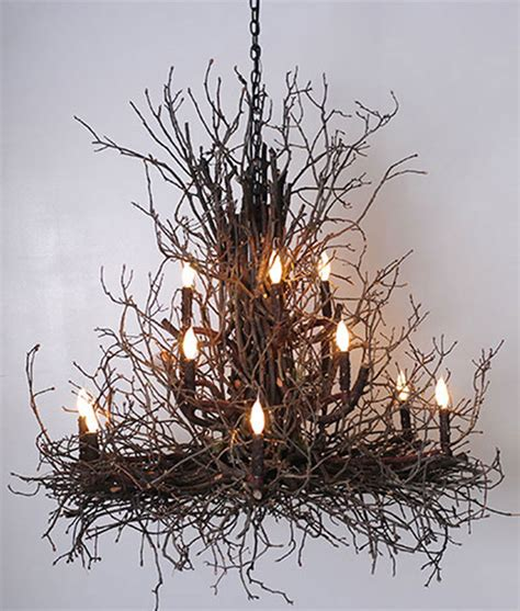 Twig Chandeliers Briarwood Branchelier Twig Chandelier Rustic Artistry