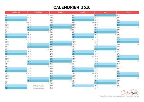 Calendrier 2016 Vierge Pdf Calendrier Semestriel 233 E 2016 Planning Semestriel