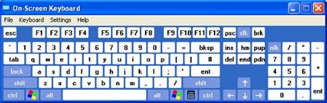 keyboard layout xp bbc my web my way using the on screen keyboard in
