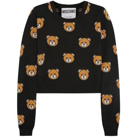 Moschino White Crop Sweater moschino cropped intarsia wool sweater 1 895 vef