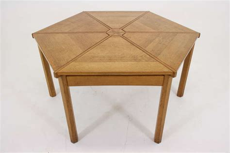 Oak Conference Table Large Scottish Solid Oak Hexagonal Dining Conference Table At 1stdibs