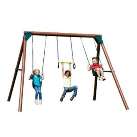 home depot swing n slide swing n slide playsets orbiter wood complete swing set pb