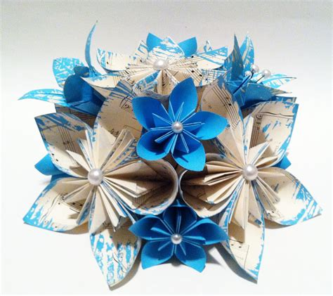 origami wedding centerpiece paper flowers and by