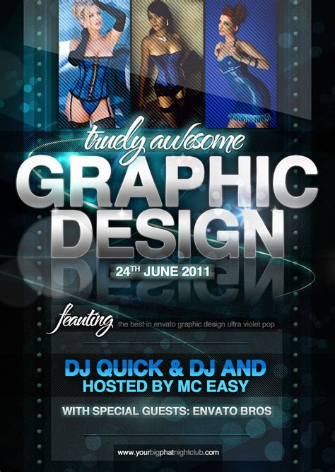 Graphic Design Nightclub Event Psd Flyer Template Flickr Graphic Flyer Templates Free
