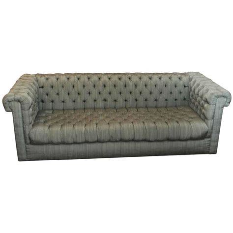 green fabric chesterfield sofa 1940s green tufted chesterfield style fabric for