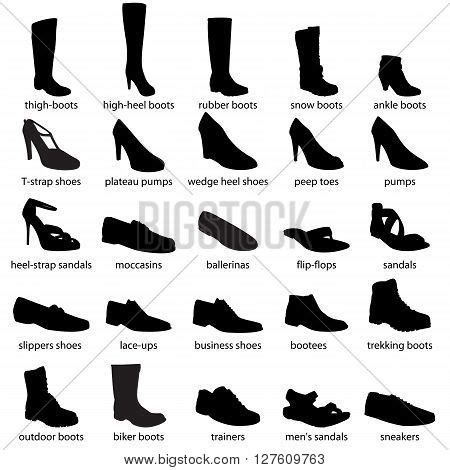 types of boats and their names footwear names men s women s vector photo bigstock