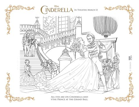 Real Cinderella Coloring Pages | new disney s cinderella coloring pages and activity sheets