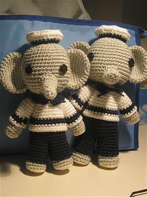 crochet pattern tutorial pinterest amigurumi sailor elephant free crochet pattern