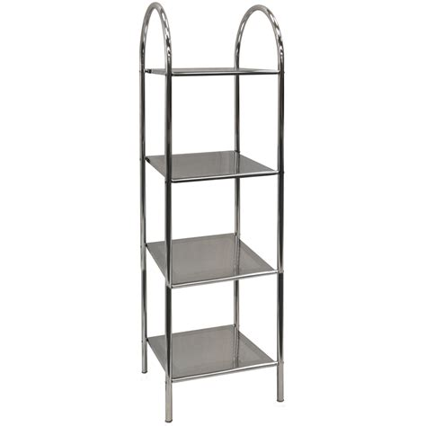 Athena 4 Tier Metal Bathroom Storage Display Shelves Metal Bathroom Shelves
