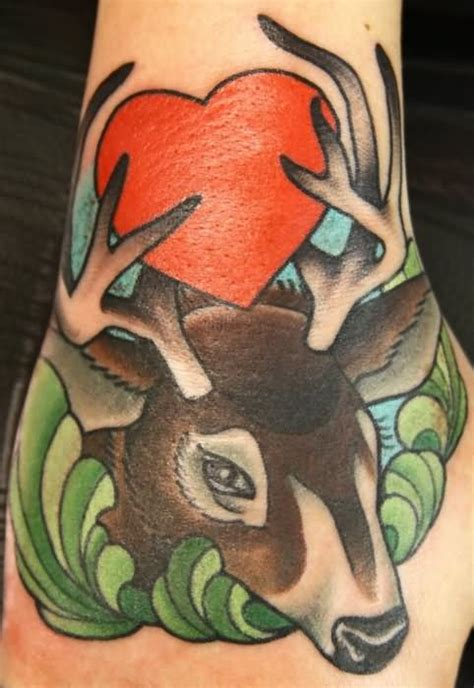 whitetail deer tattoos designs awesome whitetail deer tattoos