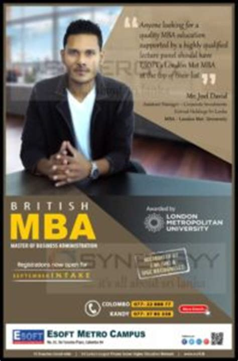 Cheapest Distance Learning Mba Uk by Esoft Mba Education Synergyy