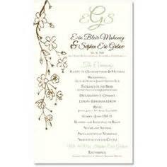 sle wedding reception program wedding