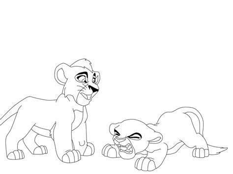 lion king kiara coloring pages kovu and kiara by wolfsta13 on deviantart