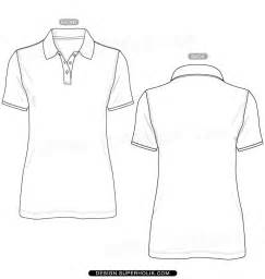 Polo Shirt Outline Vector by Polo Shirt Template Vector Hellovector