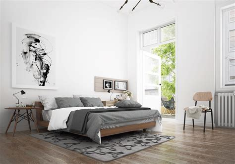 Scandinavian Interior Design Bedroom Scandinavian Bedroom Design Dominant With White Color Theme Roohome Designs Plans