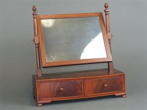 antique vanity mirror with drawers antique c 1820 wooden shaving mirror w drawers early