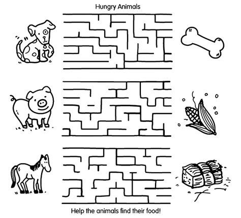 Animal Maze by Animal Maze Coloring Page Crayola