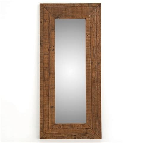 farmhouse rustic reclaimed wood large floor mirror zin home