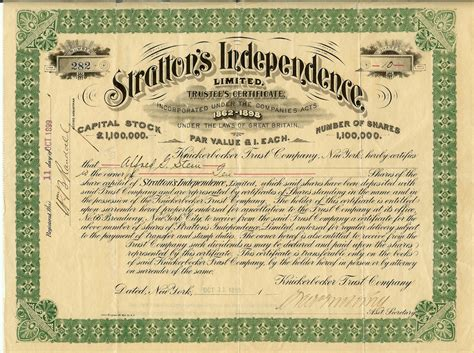 stock certificate printing and typesetting