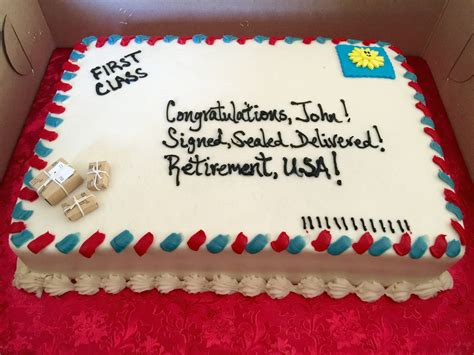 retirement cake decorations simple decorating idea for a cake for a mailman