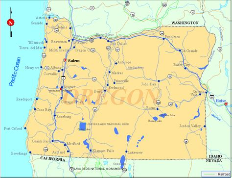 where is oregon located on the map image gallery oregon on us map