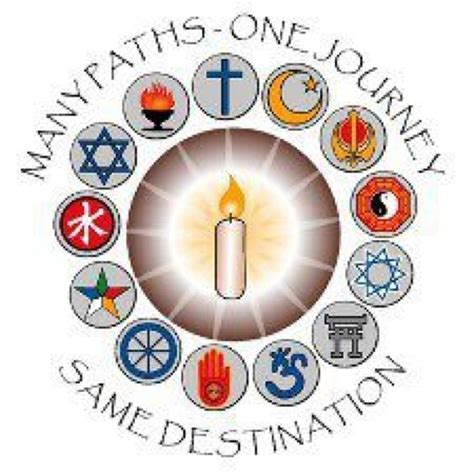design poster on religious tolerance many paths one journey same destination paths