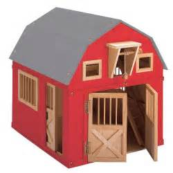 Barns For Kids Gable Barn With Side Stall Blueberry Forest Toys