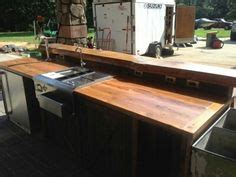 Outdoor Wood Countertop by 1000 Images About Outdoor Kitchen On Bead