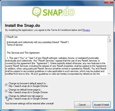 remove search snap do and snap do toolbar virus removal
