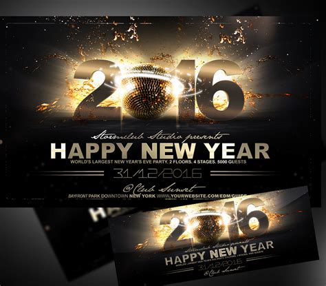 Happy New Year Flyer Template Onepartyflyer New Years Flyer Template