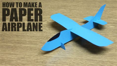 How To Make An Airplane Out Of Paper - how to make a paper airplane diy paper plane