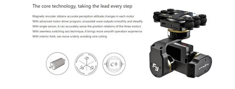 membuat gimbal drone feiyu tech mini 3d pro gimbal 3 axis drone black