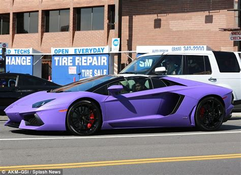 Tyga Lamborghini Rapper Tyga Set To His 400 000 Lamborghini