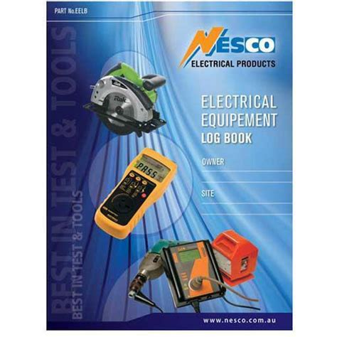 electrical equipment testing log book mjs electrical