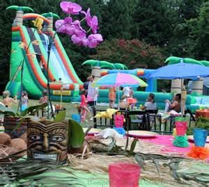 Backyard Luau Ideas Bid Day Water Slides And Backyards On