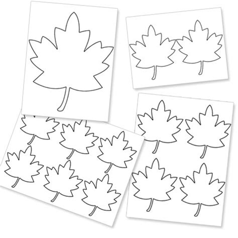 autumn leaf template free printables printable fall leaf template printable treats