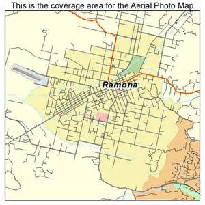 aerial photography map of ramona ca california