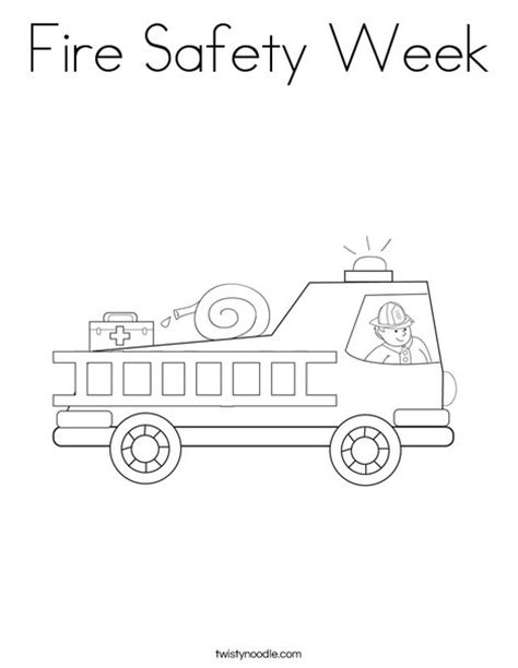 coloring pages printable fire safety week fire safety week coloring page twisty noodle