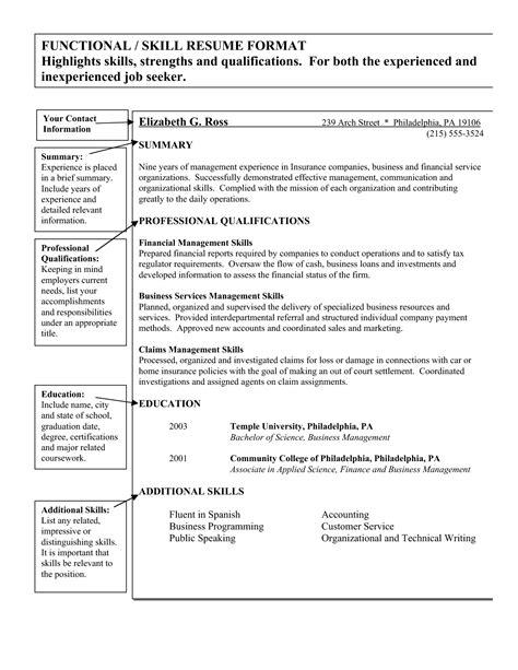 resume skills and qualifications resume exles skills and