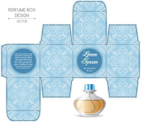 perfume box packaging template vectors material 04