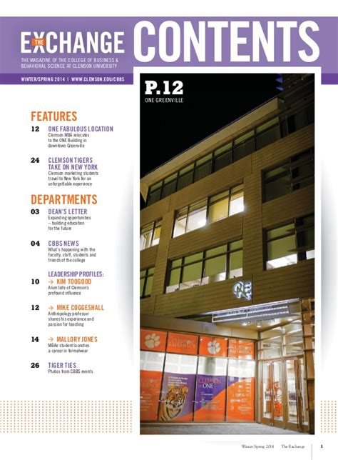Https Www Clemson Edu Cbbs Departments Mba Contact Us Staff Html by The Exchange Magazine Clemson