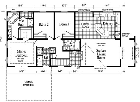 Ranch Style Floor Plan Windham Ranch Style Modular Home Pennwest Homes Model S