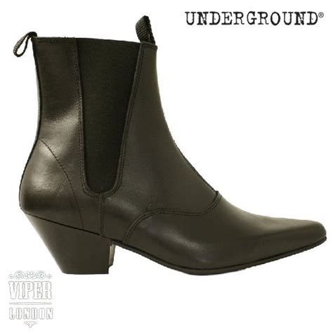 underground beatle chelsea boots with cuban heel uk5 12 ebay