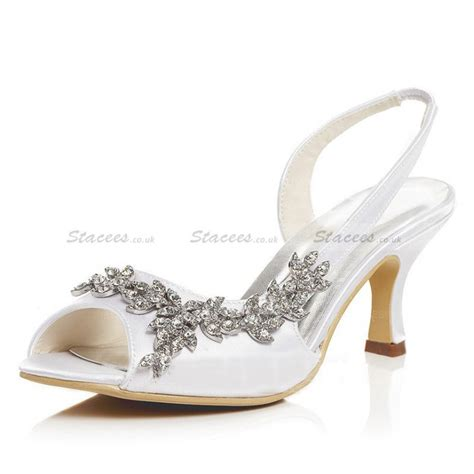 Low Bridal Shoes by White Bridal Shoes Low Heel Heels Zone