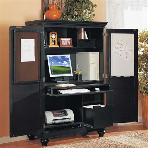 black armoire desk cherry wood computer desk armoire symbol of elegance