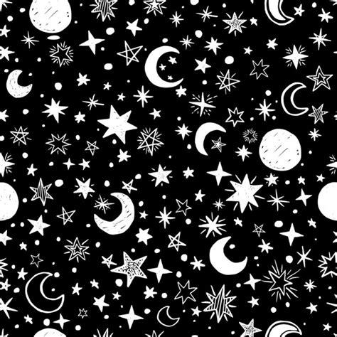 imagenes blanco y negro gratis fondo blanco y negro de lunas y estrellas descargar