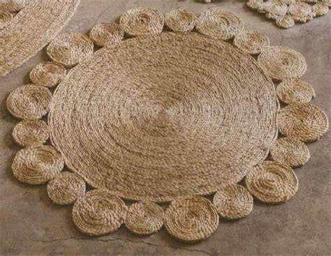 sisal rope rug diy rustic rug of jute or sisal rope shelterness