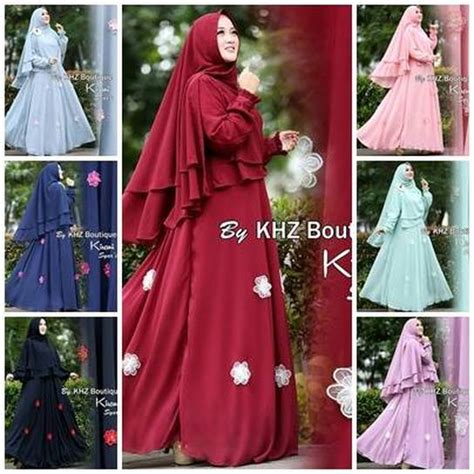 Syari Khz abitistyle dot muslim fashion baju gamis terbaru