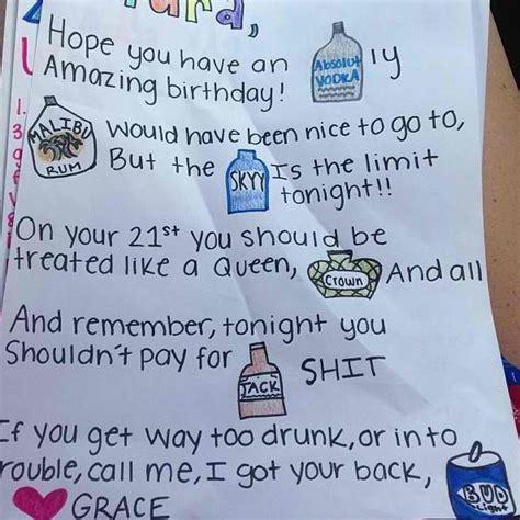 Things To Write On A 21st Birthday Card 21st Birthday Card Idea So Adorable Diy Cute Stuff